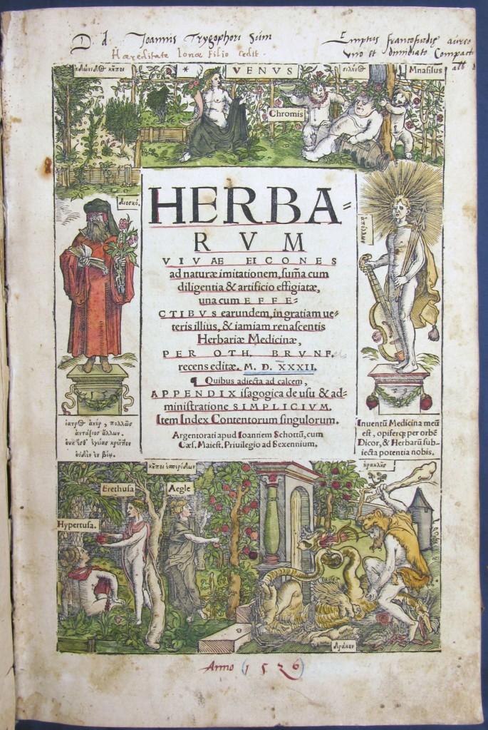 Titelblad till Herbarius vivae eicones
