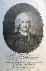frontespis med swedenborgs porträtt